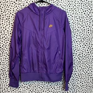 Purple Nike windbreaker